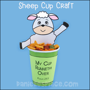 Sheep cup Bible craft for Sunday school