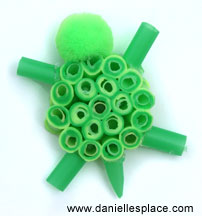 Drinking Straw Turtle Craft
