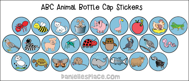 Printable animal stickers