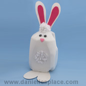 Milk Jug Rabbit Craft for Kids www.daniellesplace.com