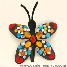 Butterfly DIY Craft made with Plastic Spoons from www.daniellesplace.com