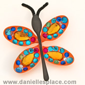 Butterfly DIY Craft made from Plastic Spoons www.daniellesplace.com