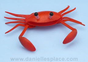Crab Craft Made with Plastic Spoons