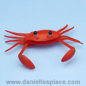 Crab Craft from www.daniellesplace.com