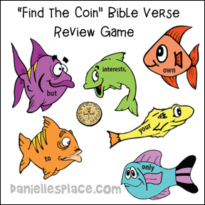 Find the Coin Bible Verse Review Game