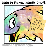 Coin in fishes mouth activity sheet