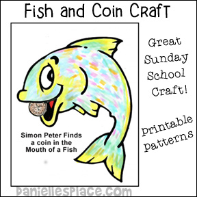 Coin in Fishes Mouth Bible Craft for Sunday School from www.daniellesplace.com