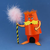 posable Lorax cup craft