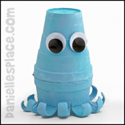 Octopus Cup Craft for Kids