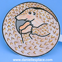 Pangolin Craft www.daniellesplace.com