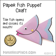 Peter finds a coin in the fishes mouth - fish puppet with moving mouth craft for Sunday School