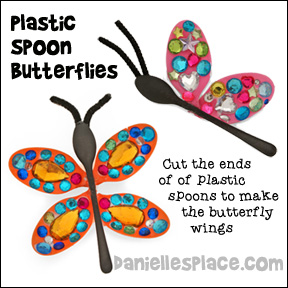 plastic spoon butterfiles from www.daniellesplace.com
