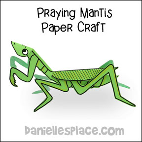 Praying Manitis Craft from www.daniellesplace.com