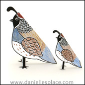 Quail Folded Paper Craft