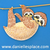 Sloth Paper Plate Craft from www.daniellesplace.com