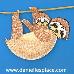 Sloth Crafts and Learning Activities