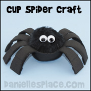 Spider Craft - Styrofoam Cup Spider Craft from www.daniellesplace.com
