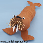 Recycled water bottle walrus craft www.daniellesplace.com