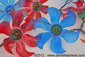 recycled water bottle flower patio lights www.daniellesplace.com