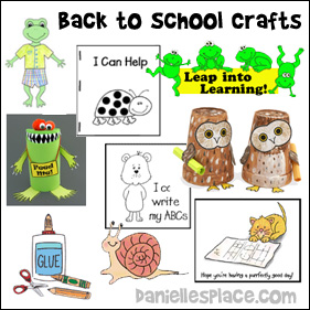 Back to School Crafts for Children www.daniellesplace.com