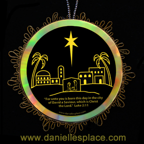 Little Town of Bethlehem Glowing Christmas Ornament Craft for Sunday School www.daniellesplace.com
