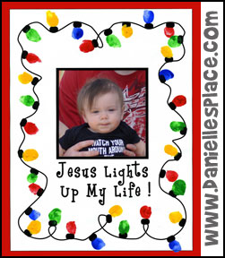 Christmas Craft - Jesus Lights Up My Life Thumbprint Craft for Sunday School from www.daniellesplace.com