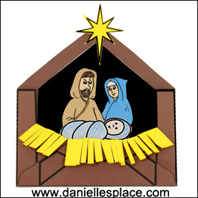 Jesus in a Manger Printable Envelope Christmas Craft for Kids  www.daniellesplace.com