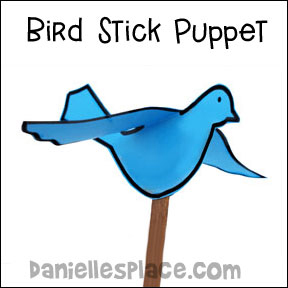 paper bird puppet craft for kids www.daniellesplace.com