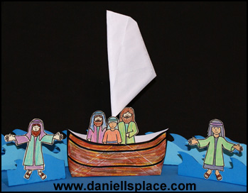 Envelope Boat Bible Craft for Jesus Walks on the Water