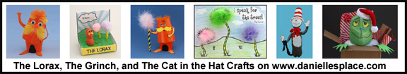 The Lorax Crafts, The Grinch Crafts, and Cat in the Hat Crafts - Dr. Suess