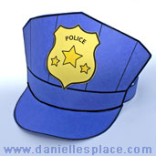 police hat craft for kids www.daniellesplace.com