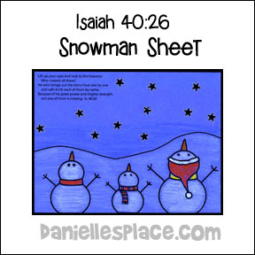 Lift up your eyes to the heavens, Isaiah 40:26 Activity Sheet from www.daniellesplace.com
