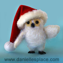 Felted Owl Craft www.daniellesplace.com