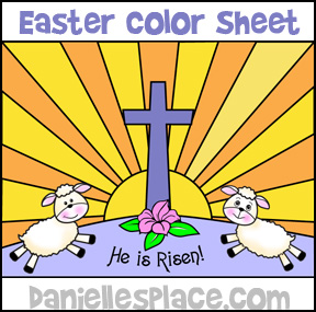 He is Risen Color Sheet for Sunday School