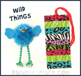 Wild Thing Bookmark and Bird Pompom Craft www.daniellesplace.com