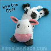 Cow Sock Beanbag Craft from www.daniellesplace.com