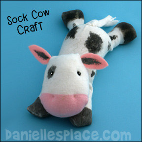 Cow Sock Craft Kids Can Make