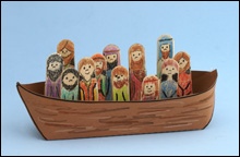 Jesus and His Disciples  in a Boat Craft