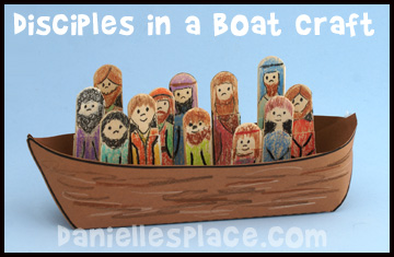 Disciples in a Boat Craft www.daniellesplace.com