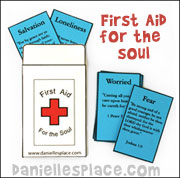First Aid for the Soul Envelope Bible Craft for Children from www.daniellesplace.com