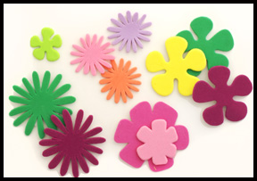 foam flower stickers