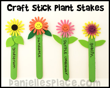 Craft Stick Plant Stakes www.daniellesplace.com