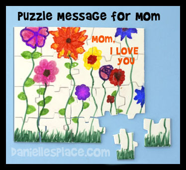 Foam Puzzle Card For Mom www.daniellesplace.com