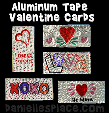 Foil Valentine's Day Card Craft Kids Can Make