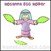 Hosanna Egg Holder Palm Sunday Craft for Kids