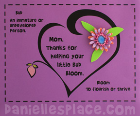 3D flower Craft for Mother's Day www.daniellesplace.com