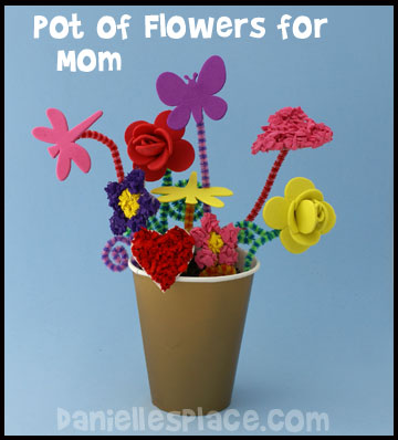 Mother's Day Boquet Craft Kids Can Make www.daniellesplace.com