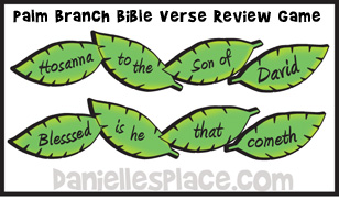 palm branch bible verse review game