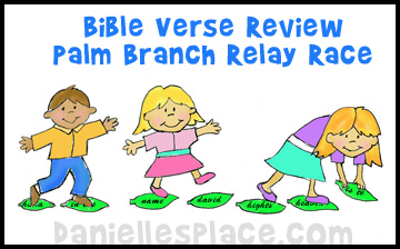 Palm Branch Bible Verse Relay Game for Easter