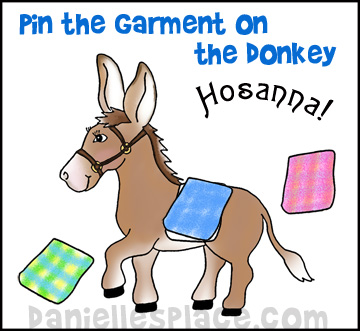 Pin the Garment on the Donkey Palm Sunday Game